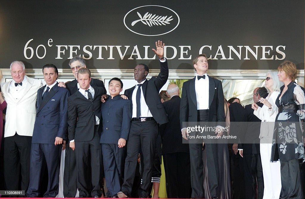 Ellen Barkin, Jerry Weinstraub, Andy Garcia, Elliott Gould, Scott Caan, Shaobo Qin, Don Cheadle and Brad Pitt