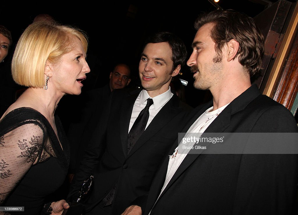 Ellen Barkin, Jim Parsons and Lee Pace attend 'The Normal Heart' After Party for The 2011 Tony Awards at the Amsterdam Ale House on June 12, 2011 in New York City.