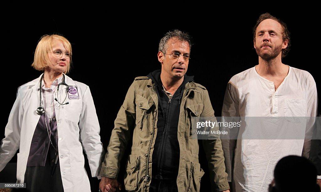 Ellen Barkin Joe Mantello John Benjamin Hickey attending the Broadway Opening Night Performance for 'The Normal Heart' in New York City