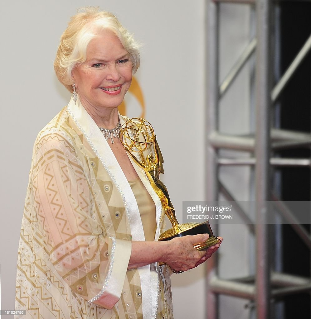 Ellen Burstyn holds her trophy for Best Supporting Actress in a Miniseries/Movie on September 22, 2013 in the press room during the 65th Annual Primetime Emmy Awards in Los Angeles, California. AFP PHOTO/Frederic J. BROWN