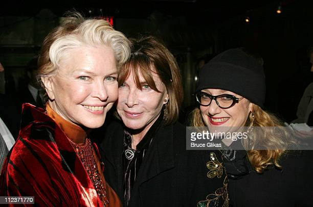Ellen Burstyn Lee Grant and Carol Kane during Opening Night of 'Oldest Living Confederate Widow Tells All' on Broadway and AfterParty at The Longacre...