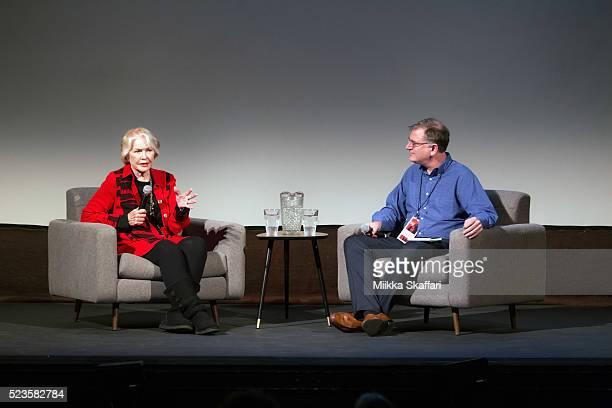 Ellen Burstyn talks with Noah Cowan at 'An Afternoon with Ellen Burstyn' at 59th San Francisco International Film Festival at Victoria Theatre on...