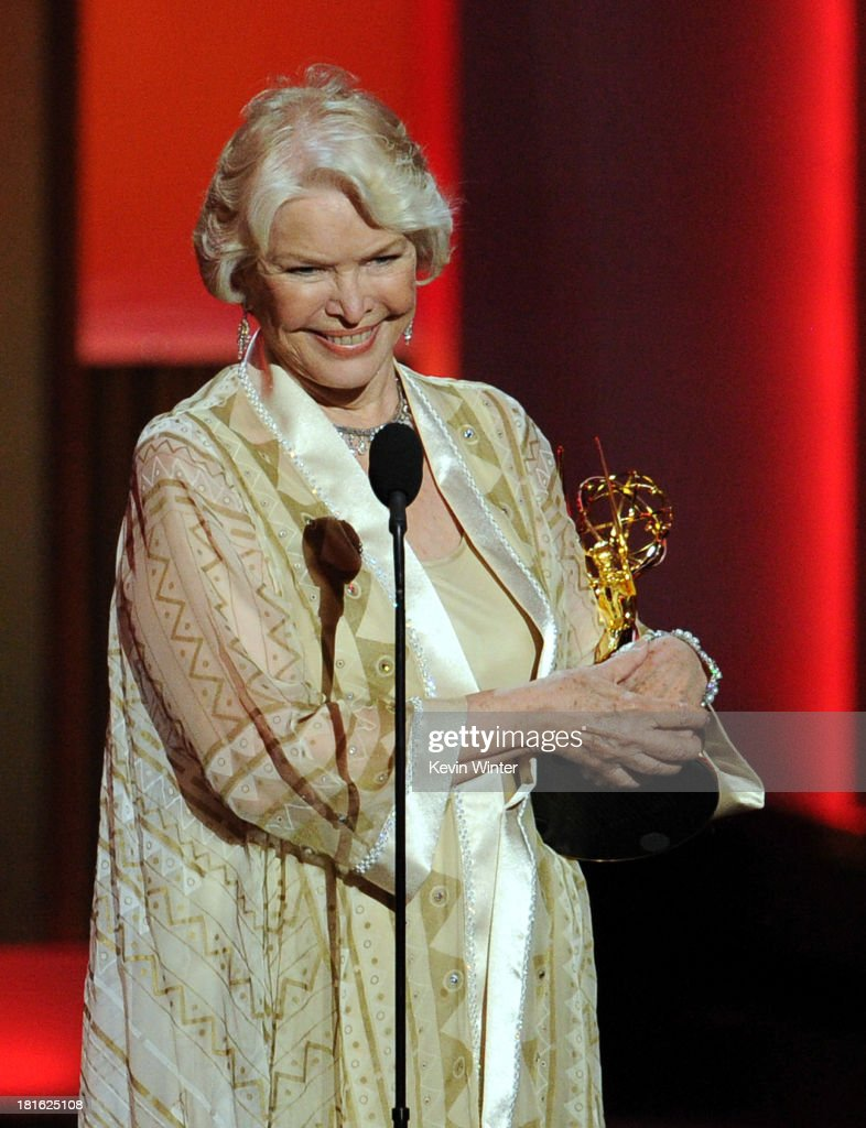 Ellen Burstyn winner of Best Supporting Actress in a Miniseries/Movie accepts her award onstage during the 65th Annual Primetime Emmy Awards held at Nokia Theatre L.A. Live on September 22, 2013 in Los Angeles, California.