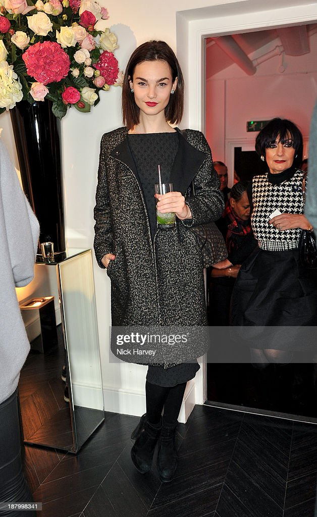 Ellen Burton attends the opening of Dior Beauty Boutique on November 14, 2013 in Covent Garden, London, England.