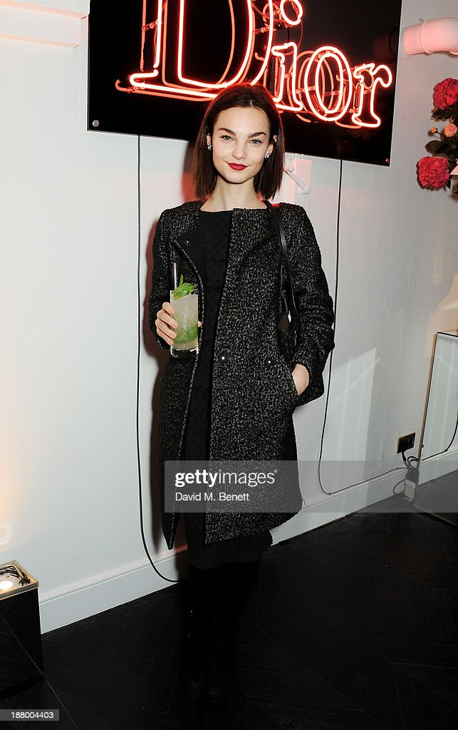 Ellen Burton attends the opening of the Dior Beauty Boutique in Covent Garden on November 14, 2013 in London, England.
