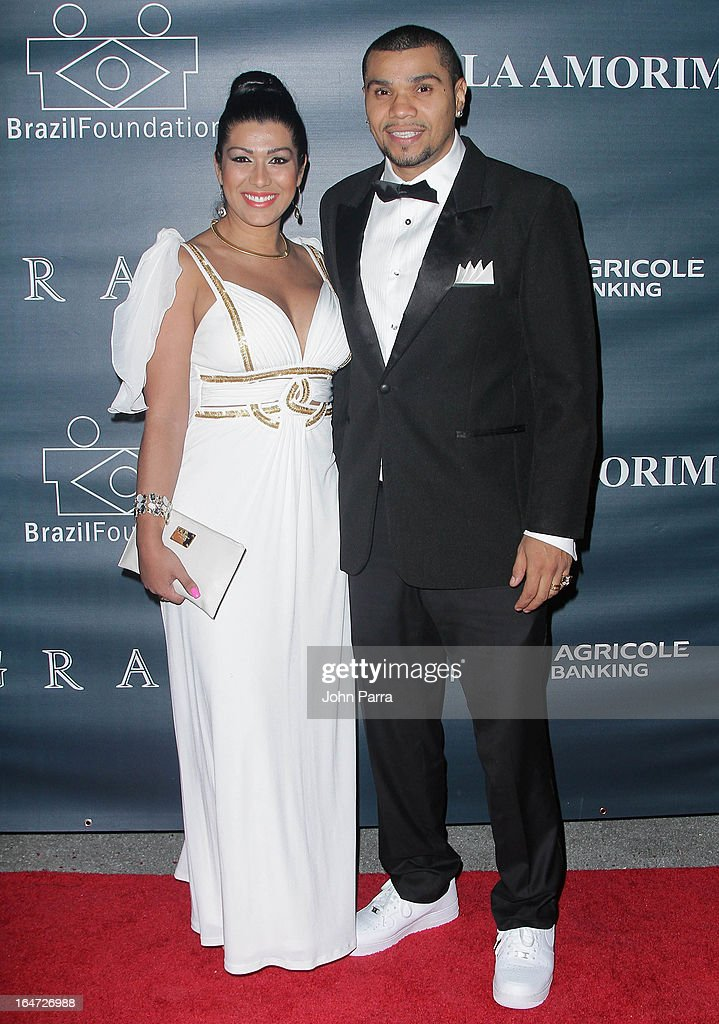Ellen Cardoso and Naldo Benny attend the II BrazilFoundation Gala Miami at Vizcaya Museum & Gardens on March 26, 2013 in Miami, Florida.