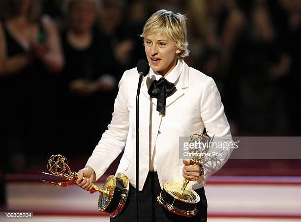 Ellen DeGeneres accepts Outstanding Talk Show award for 'The Ellen DeGeneres Show'