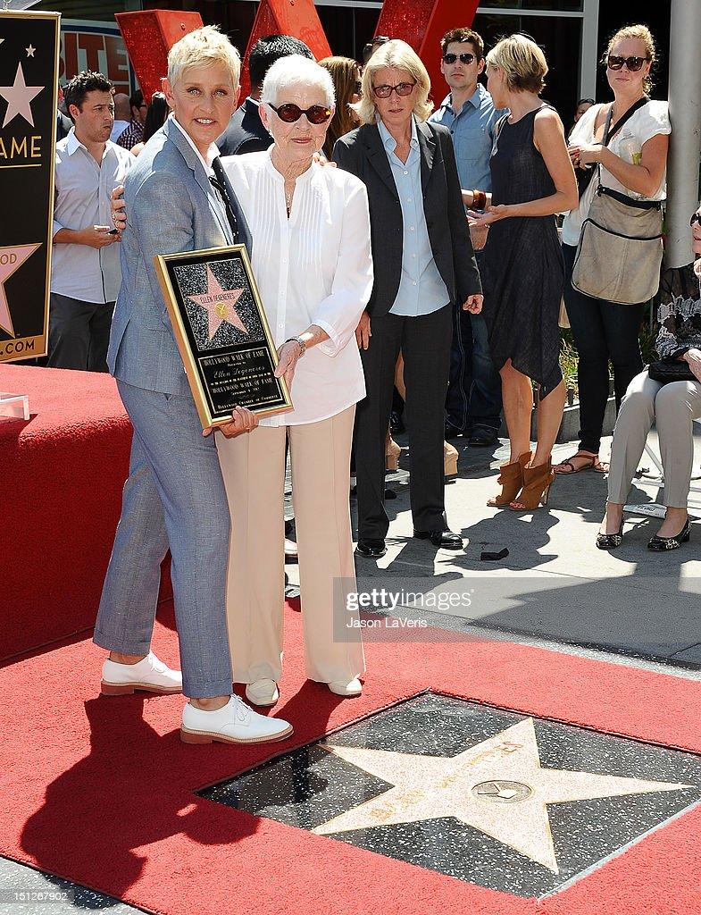 Ellen DeGeneres and her mother Betty DeGeneres attend DeGeneres ...