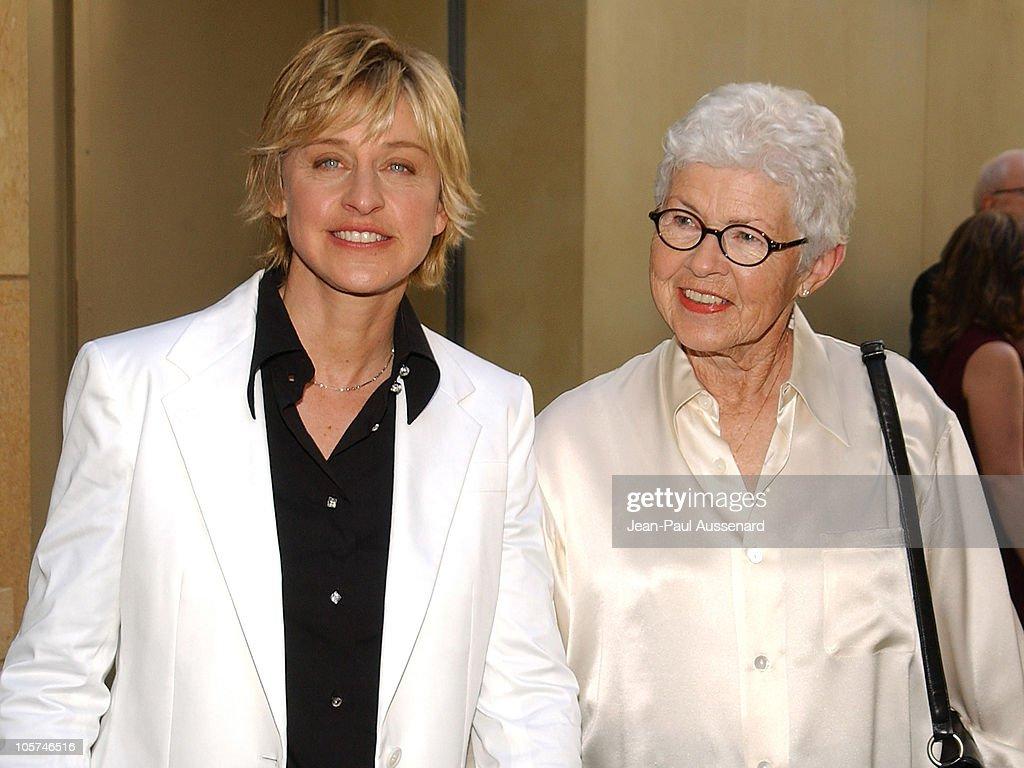 Ellen DeGeneres and her mother Betty DeGeneres during 32nd Annual ...