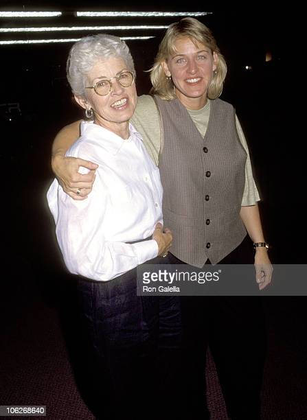 Ellen DeGeneres and Mother Betty DeGeneres during 'Wisecracks' Premiere August 11 1992 at Pacific Design Center in West Hollywood California United...