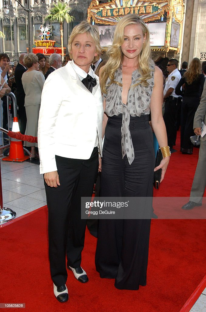 <a gi-track='captionPersonalityLinkClicked' href=/galleries/search?phrase=Ellen+DeGeneres&family=editorial&specificpeople=171367 ng-click='$event.stopPropagation()'>Ellen DeGeneres</a> and <a gi-track='captionPersonalityLinkClicked' href=/galleries/search?phrase=Portia+de+Rossi&family=editorial&specificpeople=204197 ng-click='$event.stopPropagation()'>Portia de Rossi</a> during 34th Annual Daytime Emmy Awards - Arrivals at Kodak Theater in Hollywood, California, United States.