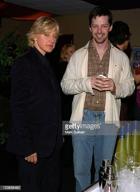 Ellen DeGeneres and Sean Hayes in Backstage Creations Talent Retreat