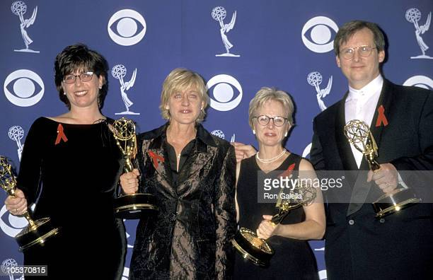 Ellen DeGeneres and Writers during 49th Annual Primetime Emmy Awards at Pasadena Civic Auditorium in Pasadena California United States