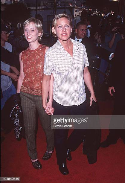 Ellen DeGeneres Anne Heche during Los Angeles Premiere of 'Face Off' at Mann Chinese Theatre in Hollywood California United States