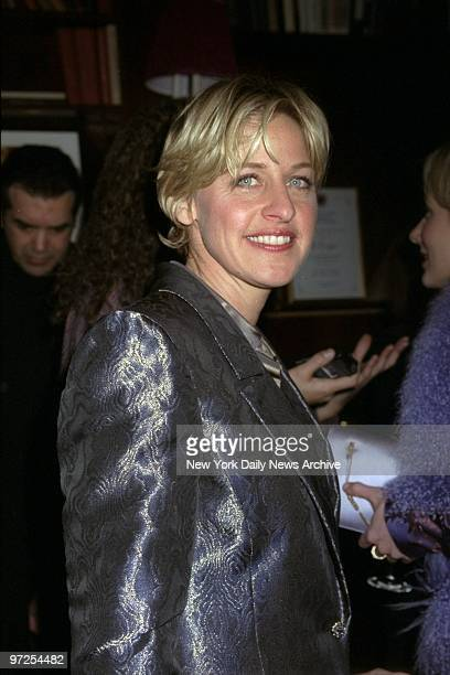 Ellen DeGeneres arrives for screening party at LeCirque for the movie 'Wag the Dog'