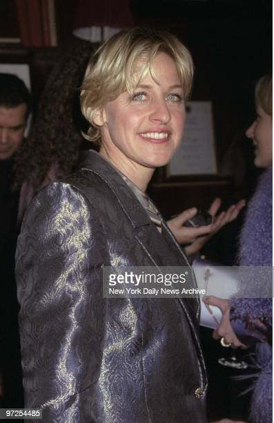 Ellen DeGeneres attending screening party for movie 'Wag the Dog' at LeCirque
