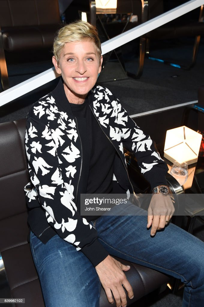 Ellen DeGeneres attends the 2017 MTV Video Music Awards at The Forum on August 27, 2017 in Inglewood, California.
