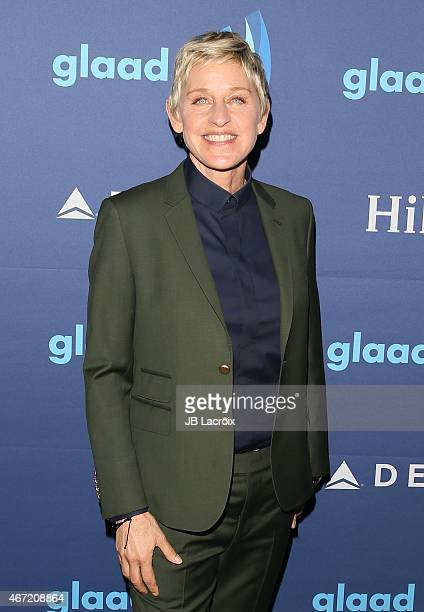 Ellen DeGeneres attends the 26th Annual GLAAD Media Awards at The Beverly Hilton Hotel on March 21 2015 in Beverly Hills California