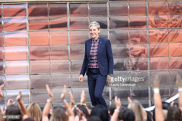 Ellen DeGeneres attends 'The Ellen DeGeneres Show' Season 13 bicoastal premiere at Rockefeller Center on September 8 2015 in New York City