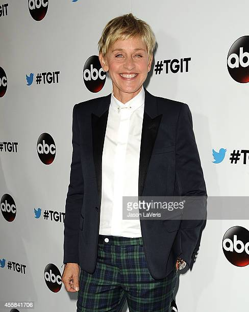 Ellen DeGeneres attends the #TGIT premiere event hosted by Twitter at Palihouse Holloway on September 20 2014 in West Hollywood California