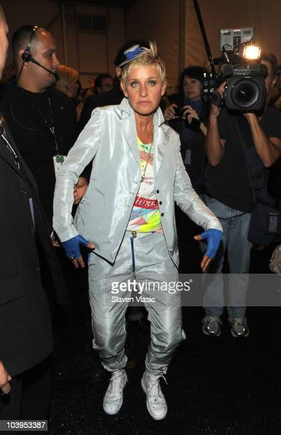 Ellen DeGeneres backstage at the Richie Rich Spring 2011 fashion show during MercedesBenz Fashion Week at The Studio at Lincoln Center on September 9...