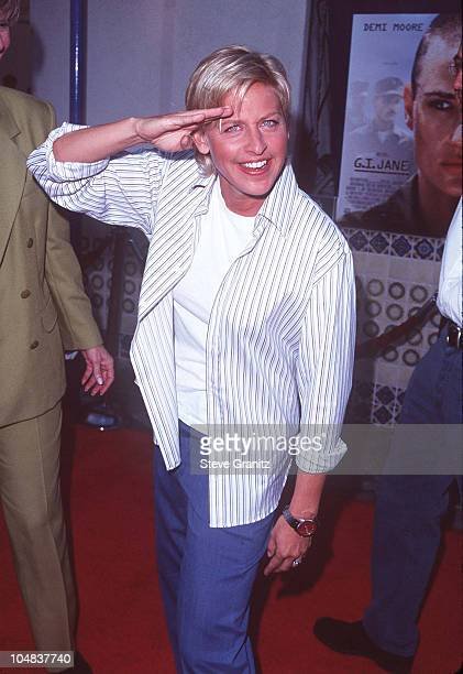 Ellen DeGeneres during GI Jane Premiere at Mann Village Theatre in Westwood California United States