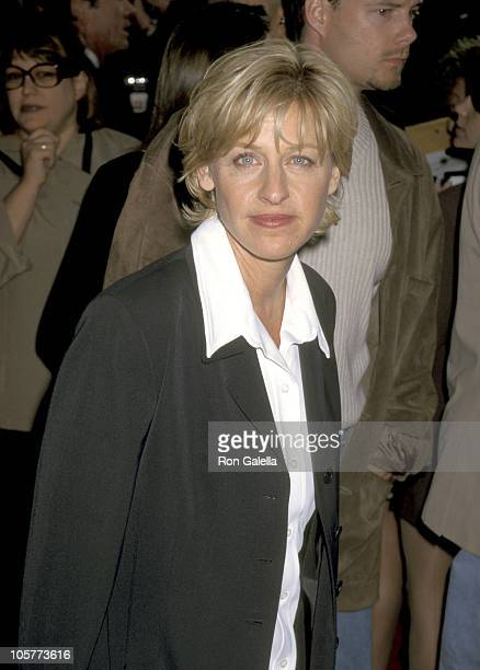 Ellen DeGeneres during 'Volcano' Hollywood Premiere at Mann's Village Theater in Hollywood California United States