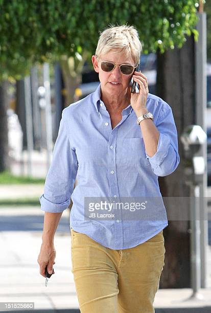 Ellen DeGeneres is seen in Beverly Hills on September 7 2012 in Los Angeles California