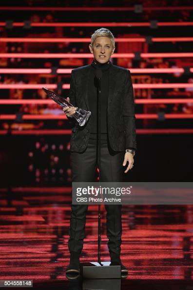 Ellen DeGeneres on stage during the PEOPLE'S CHOICE AWARDS 2016 from the Microsoft Theater on Wednesday Jan 6 2016 on the CBS Television Network