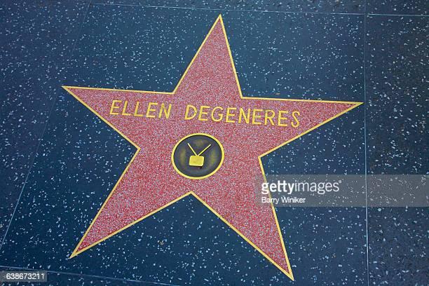 Ellen Degeneres on walk of stars, Hollywood