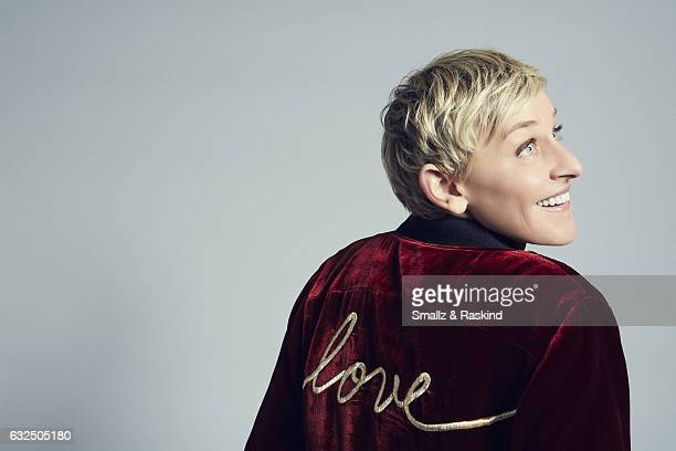 Ellen DeGeneres poses for a portrait at the 2017 People's Choice Awards at the Microsoft Theater on January 18 2017 in Los Angeles California