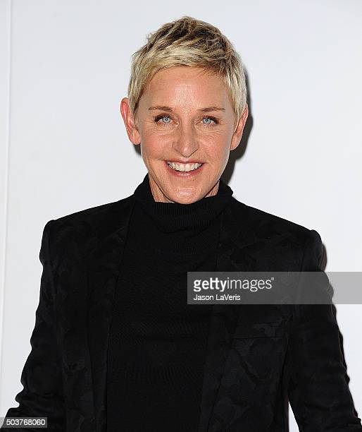 Ellen DeGeneres poses on the press room at the 2016 People's Choice Awards at Microsoft Theater on January 6 2016 in Los Angeles California