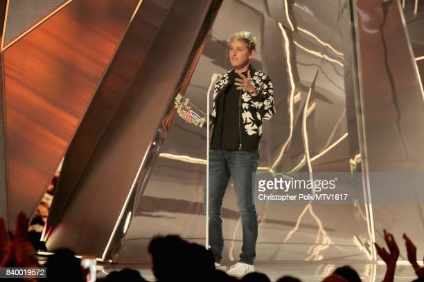 Ellen DeGeneres presents the Michael Jackson Video Vanguard Award onstage onstage during the 2017 MTV Video Music Awards at The Forum on August 27...