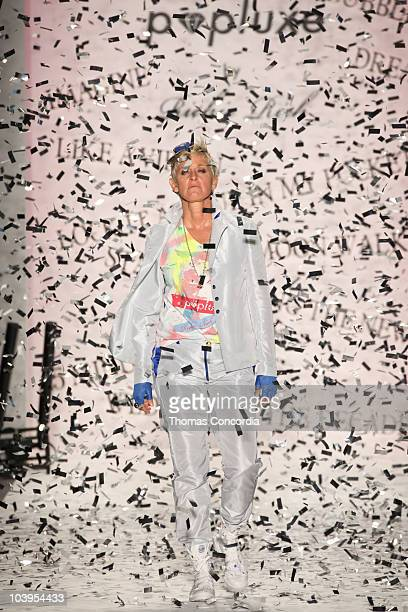 Ellen DeGeneres walks the runway at the Richie Rich Spring 2011 fashion show during MercedesBenz Fashion Week at The Studio at Lincoln Center on...