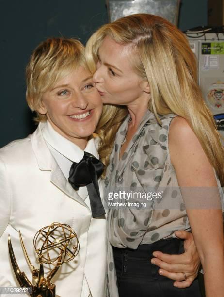 Ellen DeGeneres winner Oustanding Talk Show and Oustanding Talk Show Host and Portia de Rossi