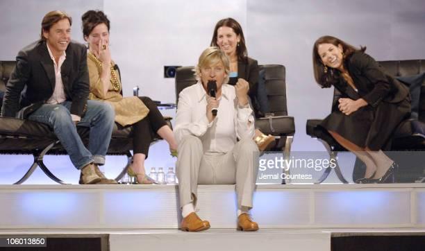 Ellen Degeneres with Andy Spade Kate Spade Bobbi Brown and Jean Chatzky