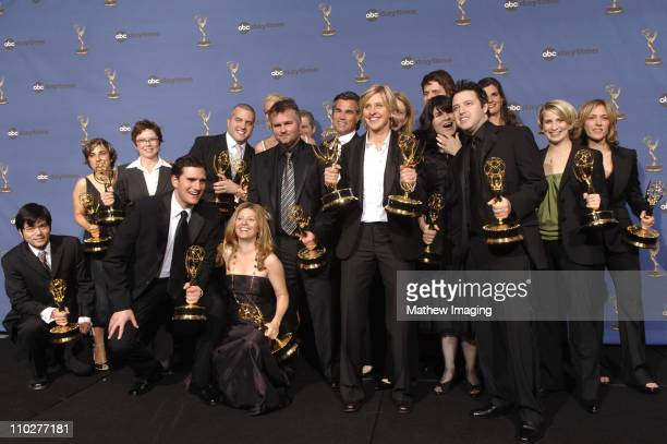 Ellen DeGeneres with writers and producers of 'The Ellen DeGeneres Show' winner Outstanding Talk Show and Outstanding Talk Show Host