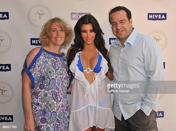 MALIBU CA MAY 24 Ellen Finn Kim Kardashian and Nicolas Maurer attend Nivea and Shay Todd's 'Bikini Bash' at Nivea Beach House on May 24 2009 in...