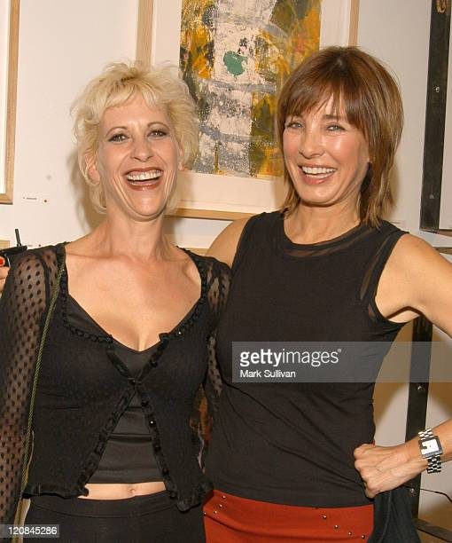 Ellen Green and Anne Archer during Gala Opening of Milton Katselas' 'Spacial Motion Monotypes' Exhibit Inside at Gallery 258 in Beverly Hills...