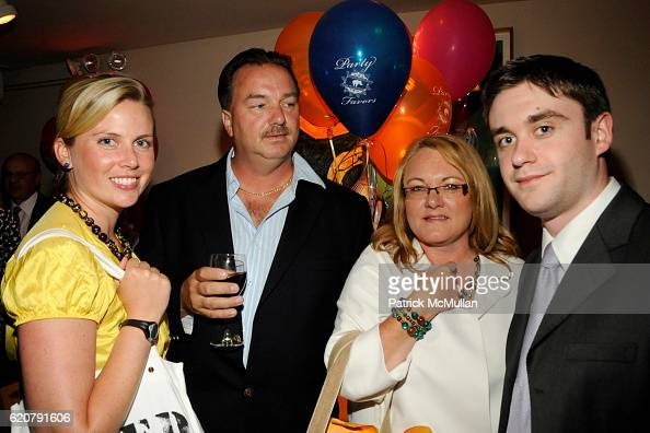 Ellen Gustafson Marc Lawrence Dede Agar and Dan Agar attend 'PARTY FAVORS' by Nicole Sexton Book Release Party at Michael's on July 29 2008 in New...