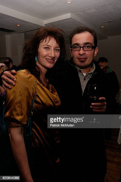 Ellen Harvey and Javier Tellez attend Whitney Biennial Artists Party at Trata Estiatoria on March 8 2008 in New York City