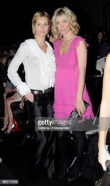 Ellen Hidding and Filippa Lagerback attend Scervino fashion show during Milan Fashion Week Womenswear Autumn/Winter 2009 at the Milano Fashion Center...