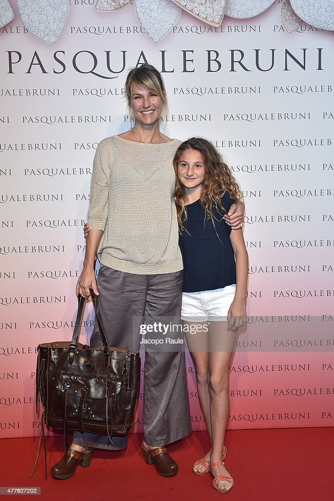 Ellen Hidding and her daughter Anne Marie attend Pasquale Bruni - Giardini Segreti Cocktail Party on June 18, 2015 in Milan, Italy.
