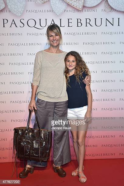 Ellen Hidding and her daughter Anne Marie attend Pasquale Bruni Giardini Segreti Cocktail Party on June 18 2015 in Milan Italy