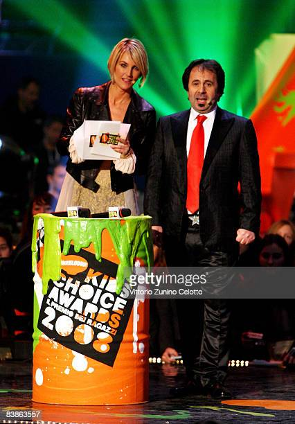 Ellen Hidding and Michele Foresta attend the Nickelodeon Kids' Choice Awards 2008 held at Palalido on November 30 2008 in Milan Italy