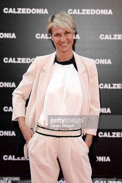Ellen Hidding arrives at the Calzedonia 'Forever Together' show on April 16 2013 in Rimini Italy