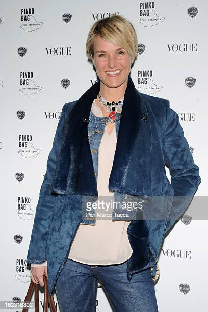 Ellen Hidding attends a Pinko bag for Ethiopia cocktail party on February 21 2013 in Milan Italy