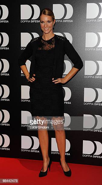 Ellen Hidding attends 'Doppia Difesa' charity gala event on November 26 2009 in Milan Italy
