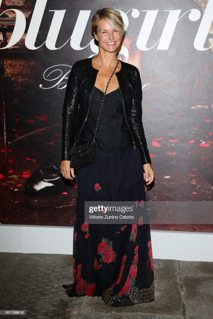 Ellen Hidding attends the Blugirl show as a part of Milan Fashion Week Womenswear Spring/Summer 2014 on September 19, 2013 in Milan, Italy.