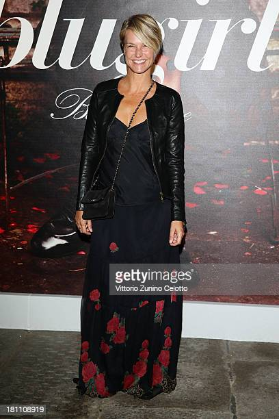 Ellen Hidding attends the Blugirl show as a part of Milan Fashion Week Womenswear Spring/Summer 2014 on September 19 2013 in Milan Italy